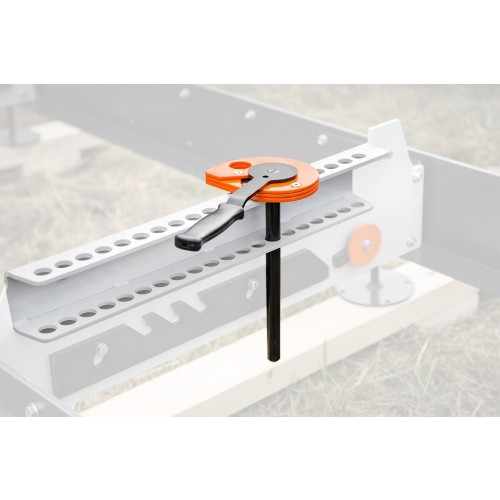 Log clamp with mounting bracket, B1001